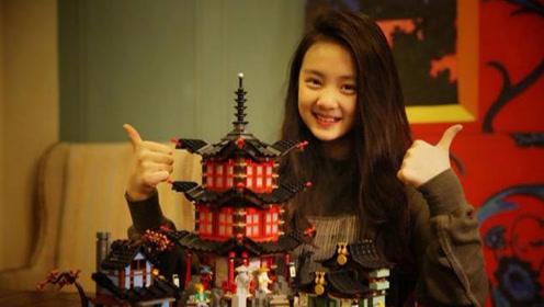 黄磊晒女儿搭建筑模型照片 9岁的多多颜值超高获网友称赞