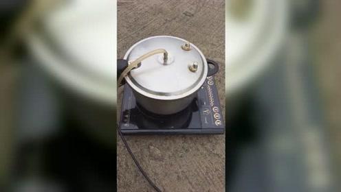 自制蒸汽洗车!