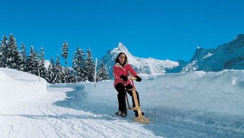 骑自行车也可以滑雪!瑞士独有,一台4000块