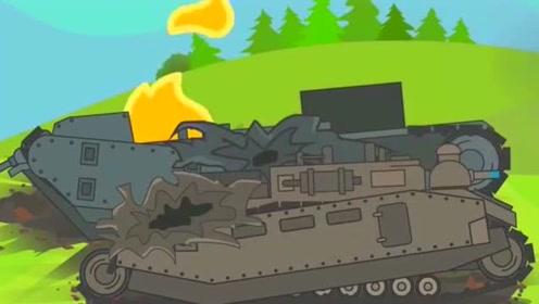 坦克世界搞笑动画:大林夺回P1000的核心,结局尴尬了