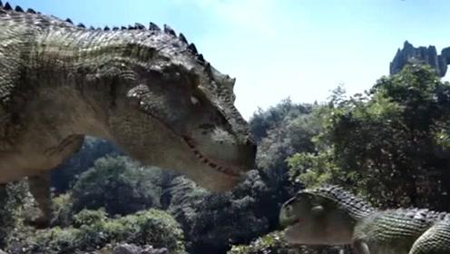 恐龙宝宝被大恐龙追杀,不料霸王龙老爸来了,下一秒简直燃爆了!