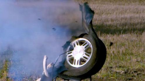 最大胎压下爆胎会怎样?老外实测,怪不得老司机都不敢打满气!
