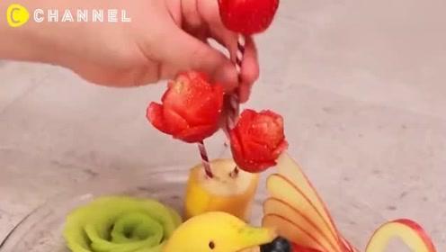 吃掉就太可惜了!童年趣味水果拼盘