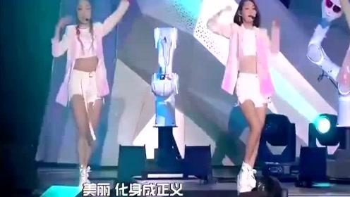 火箭少女现场表演《月亮警察》杨超越开口第一句就唱跑调了!