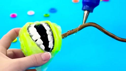 趣味恶作剧:DIY把网球做成食人花的样子,不过放心,它不会咬人