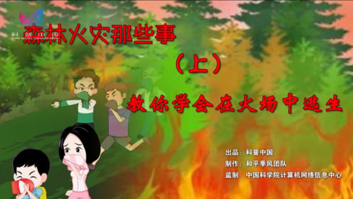 森林火灾那些事1  教你如何在火场中逃生
