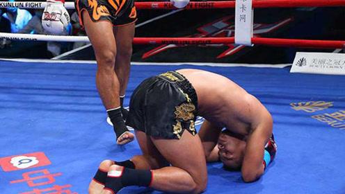 中国新疆悍将开场5秒击倒黑人拳王,轻松KO获胜!