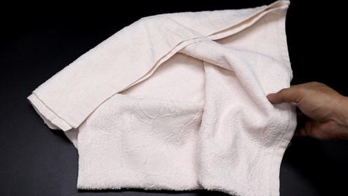 用废旧毛巾制作一个收纳袋,全家人抢着要用,方法简单又实用