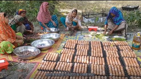 """印度人做炒饭下了1000多枚鸡蛋,太浪费?可真相让人""""敬佩"""""""