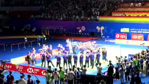 中国队夺冠庆祝