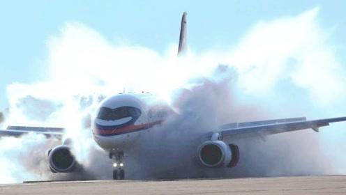 飞机降落中遇到侧风袭击会发生什么?镜头拍下全过程,你不在乎?