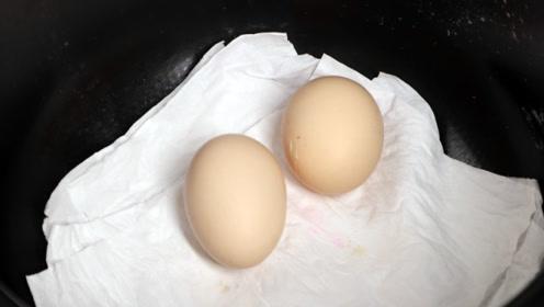 水煮鸡蛋最特别的做法,不加水,不加油,煮出的鸡蛋香嫩不沾壳