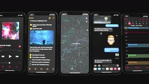 苹果官方介绍 iOS 13 暗黑模式!