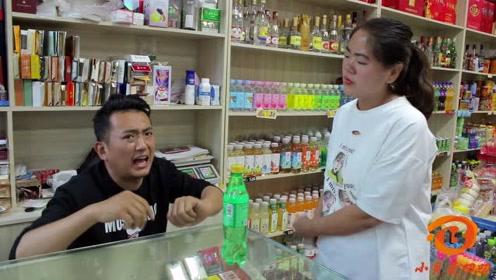 美女超市买饮料,没想一连三次偷偷改字,结果小伙装糊涂挽回损失