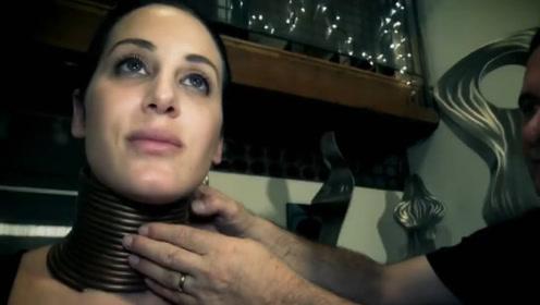 美国女子模仿长颈族,佩戴铜环长达5年,摘下后效果美翻众人!