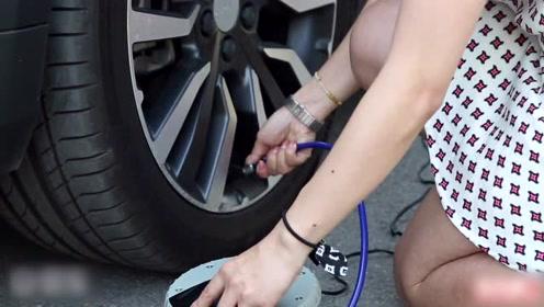 原创路途中突发车胎缺气,便携式车载充气泵是否应急?