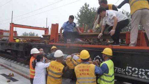 突发!安徽阜阳高铁施工现场发生意外,十多人被砸伤