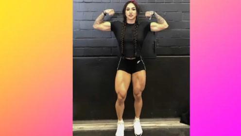 国外一女子沉迷健身无法自拔!练就一身肌肉!令无数男人汗颜