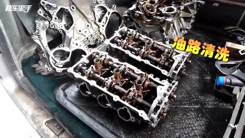 公爵VQ35发动机做大修,拆车件配上进口配件,修复后效果不错
