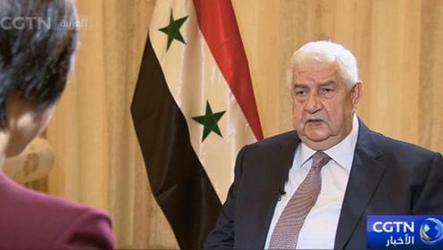 中央广播电视总台CRI和CGTN联合采访叙利亚副总理穆阿利姆