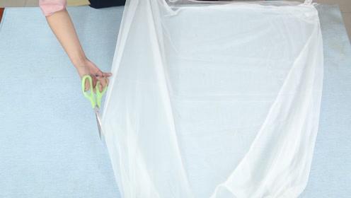 旧蚊帐别当旧布擦地板用,剪开缝几针做成两件套,姑娘见了都想要