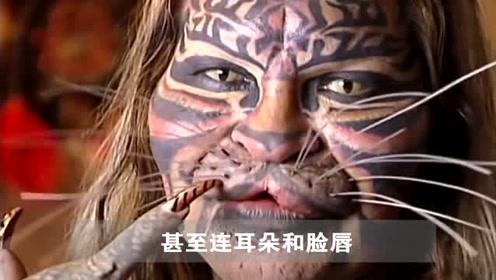 男子因为太喜欢老虎,花了27年整成老虎的样子,最后成这样了!