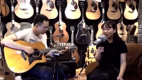 美少女吉他弹唱《半壶纱》柔情古风太好听了,果断收藏!
