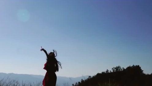 现代舞《落日余晖》,美女在悬崖边跳舞,真的不害怕吗?