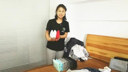 东北大姐帮人叠衣服,每小时300:很多90后家里衣服堆两米