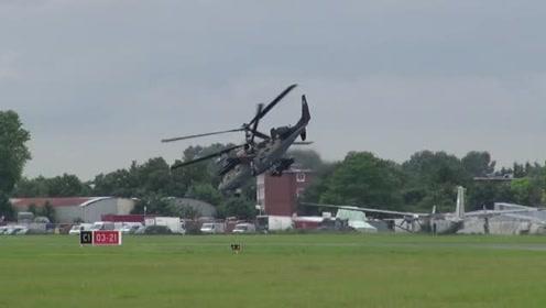 """罕见卡-52直升机超低空飞行画面曝光,一个字""""酷"""""""