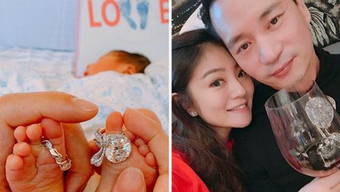 39岁安以轩冒心脏病风险产子 宝宝刚出生脚戴巨钻