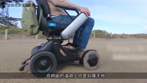 这个轮椅有五十个轮子,可全方位旋转,速度够快甚至还能飙车