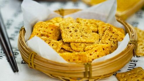 金黄酥脆小米锅巴,非油炸吃到你停不下来