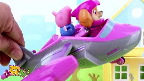 乔治通过自己的努力成功的成为汪汪队中的飞行员 玩具故事