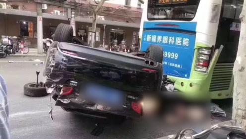 上海一女司机因操作不当与5辆车发生碰擦 致1死4伤