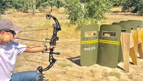 老外用最锋利的弓箭射击最坚固的盾牌,结果让人意外!