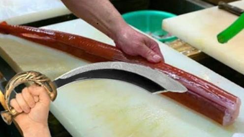 国家一级厨师的刀工有多强?实拍红烟管鱼处理过程,真是鬼斧神工