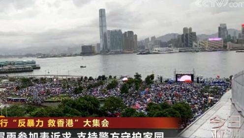 """香港举行""""反暴力 救香港""""大集会"""
