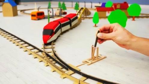 老外自创能变形的火车轨道,这样的高科技设计你还满意吗?