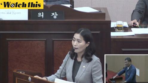韩国地方省长在国会因议员一句话愤怒 竟说了4小时:给我道歉