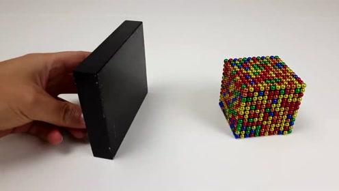 视觉享受:磁力球与磁铁之前的慢动作,巴克球的超完美玩法