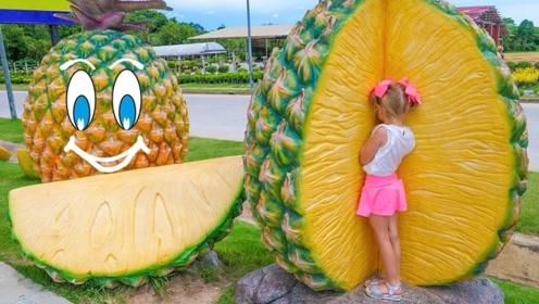 小女孩睡着后,到水果王国玩耍了一番,醒来水果全认识了!