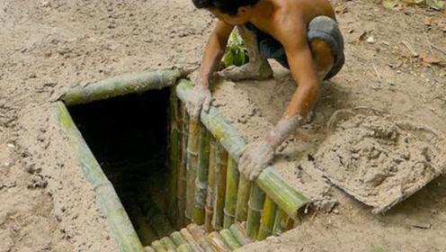 牛人建造最隐秘地下竹屋,与地面融为一体,室内却相当奢华!
