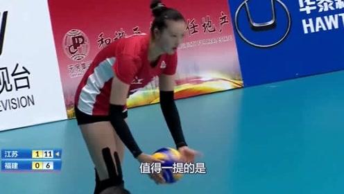 """太胖了!女排国内比赛一球员身材很""""特殊"""",不像排球选手"""