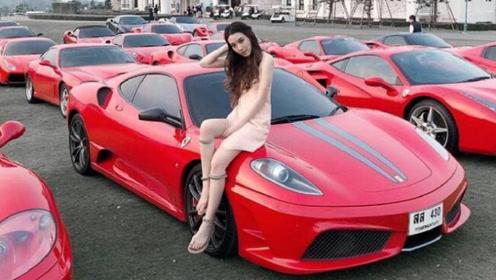 混血美女晒家中80辆豪车,其中最贵的价值2000亿!