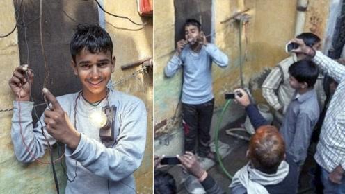 """印度16岁男孩抱1万伏高压电,毫发无伤,现实版的""""雷神""""?"""