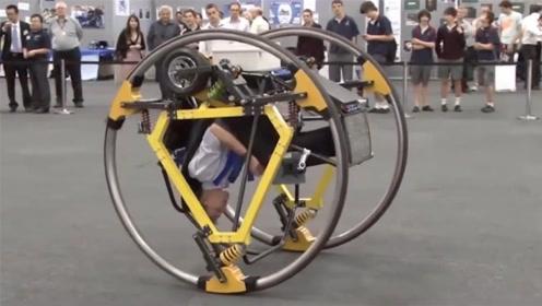 这电动车并排两轮,倒着开还会翻跟斗,你敢试试不