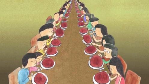 一大桌人聚餐,吃着一样的美食,却变成各式各样的动物