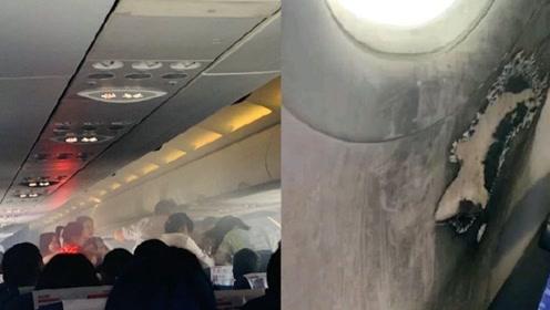 紧急返航!东航一航班客舱内充电宝自燃:座位旁有烟熏痕迹