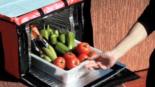 不用电的折叠冰箱,晒晒太阳就能保鲜,专为穷人设计